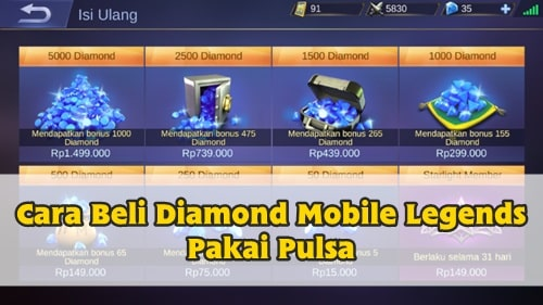 Cara Beli Diamond Mobile Legends Pakai Pulsa Telkomsel Droid Lover
